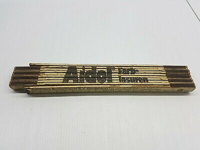 Vintage tool folding wooden ruler 2m German Aidol Farblasuren collector piece