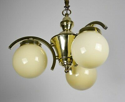 Art Deco Bauhaus Deckenlampe Messing