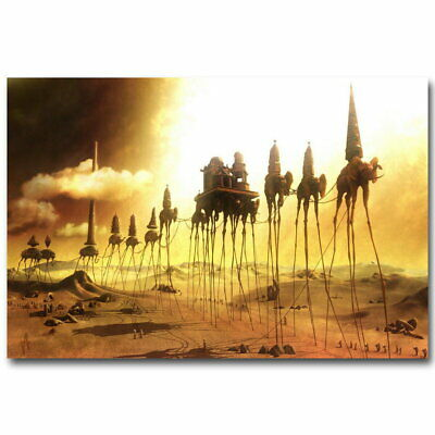 140571 Caravan Salvador Dali Abstract Elephants Wall Poster Print AU