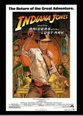 146393 Raiders Of The Lost Ark Movie Wall Poster Print AU