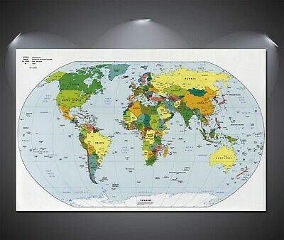 146947 World Map Giant Wall Poster Print AU
