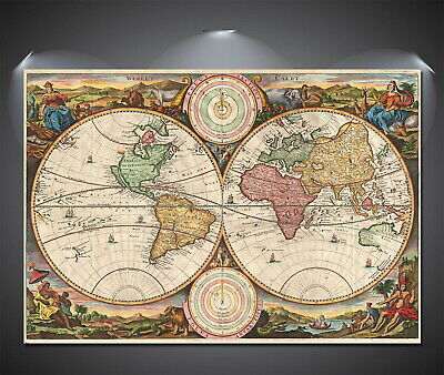 147026 Ye Old World Map Wall Poster Print AU