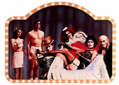 148435 Rocky Horror Picture Show Movie Cast Wall Poster Print AU