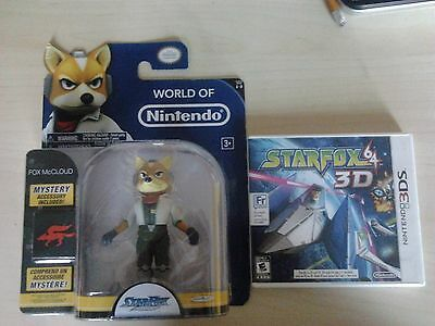 World of Nintendo - FOX 4 inch fig + Star Fox 64 3D(Nintendo 3DS, 2011)