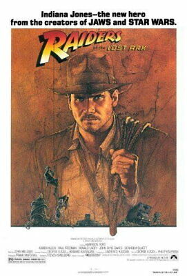 151750 Raiders Of The Lost Ark Movie Wall Poster Print AU