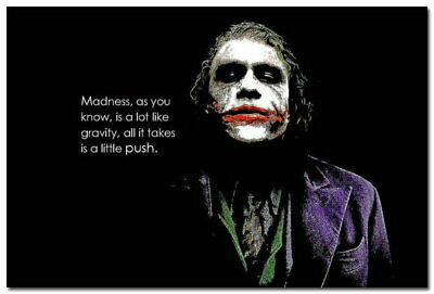 135971 Dont Be Madness Joker Quote Dark Knight Rises Wall Poster Print UK