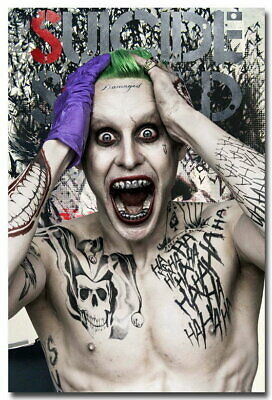 136574 Suicide Squad Joker 2016 Movie Wall Poster Print UK
