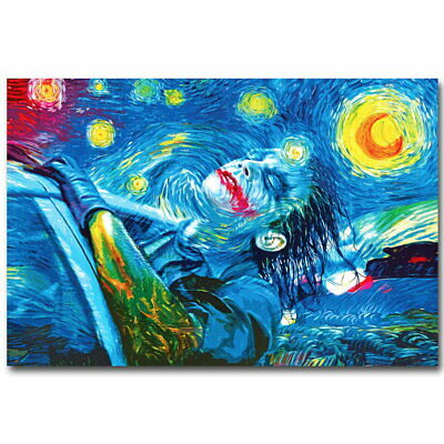140320 Joker Psychedelic Trippy Starry Night Wall Poster Print UK