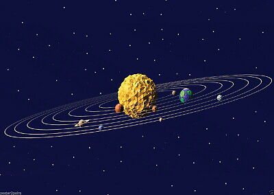 146348 Solar System Space Start Planets Wall Poster Print UK