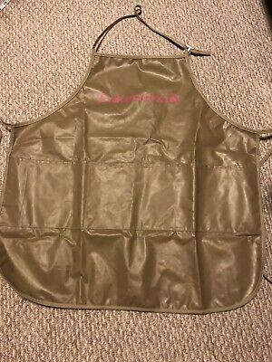 Eukanuba Dog Grooming Apron, Brown Pink Plastic Keeps You Dry