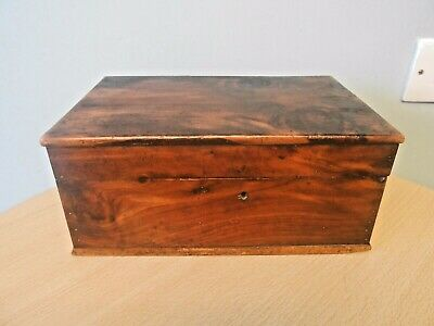 Antique 19Thc French Provincial Figured Cedar Wood Fitted Box