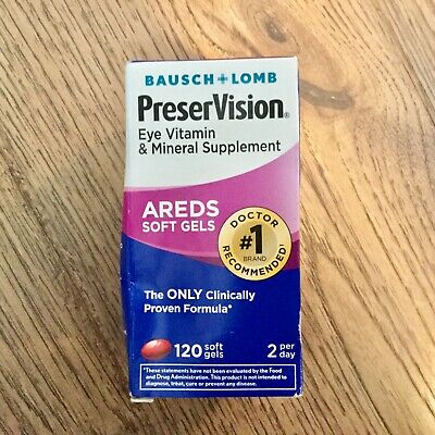 Bausch + Lomb Preservision 120-Ct.Eye Vitamin Areds Softgels(exp 09/2020)