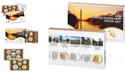 2019 S Us Mint 10-Coin Clad Proof Set Gem With Box And Coa No Penny