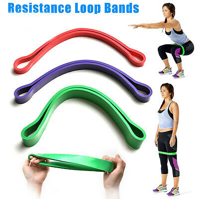 1-3x Heavy Duty Resistance Band Loop Exercise Yoga Workout Power Gym Fitness