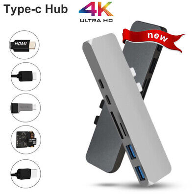 7in1 Type C USB C Hub Dual Adapter 3.1 port Card Reader 4K HDMI For MacBook Pro