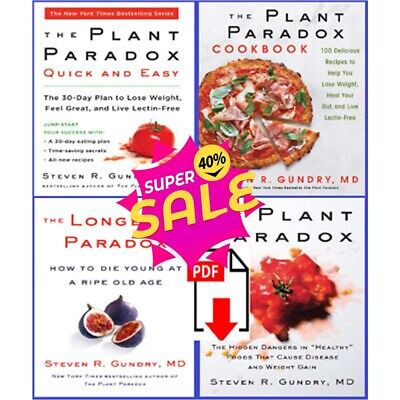 All 4 The Plant Paradox by Dr. Steven R Gundry M.D 𝓔-BΘΘk (P D F) Fast Shipping
