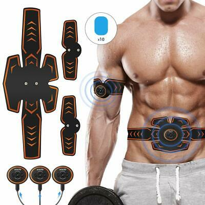 ROKOO Abs Stimulator Muscle Trainer Equipment with 10 Gel Pads, EMS Abdominal