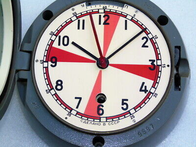 Vintage Russian Cccp Ships Boat Marine Mechanical Submarine Winding Clock Watch