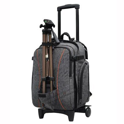 DSLR Trolley Case Backpack Camera Bag with wheel Draw-Bar Box for Sony A7III A9