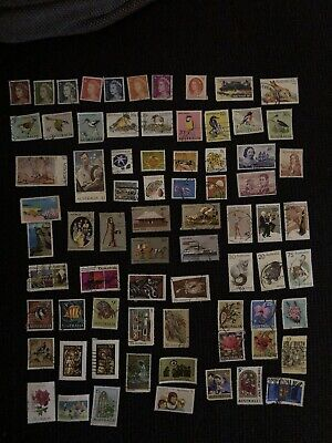 75 Used Australian Postage Stamps - Variety of 60s, 70s & early 80s Stamps