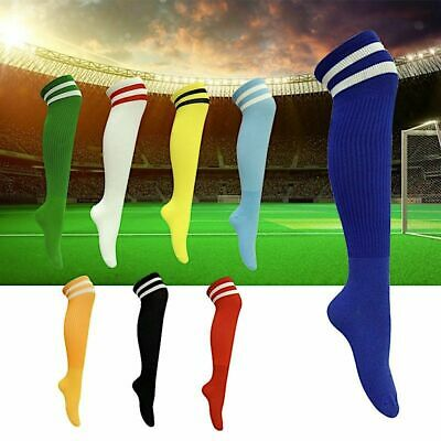 Football Socks 2 Pairs Professional Over Knee-high Cotton Striped  Sport Soccer