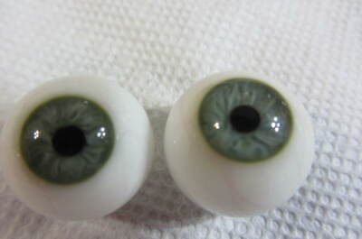 Beautiful Green German Glass Mouth-Blown  Eyes  20 mm For Reborn Baby Dolls
