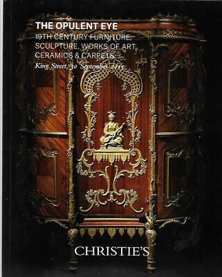 Christie's 19th C. Furniture Sculpture Ceramics Carpets Auction Catalog 2015