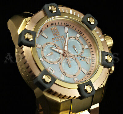 Invicta 63mm Reserve JT GRAND OCTANE Ltd. Ed MOP SWISS Chrono Rose Gold TT Watch