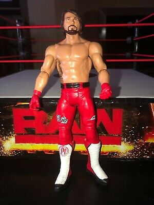 WWE AJ STYLES RED RAW BASIC SERIES 85 MATTEL ACTION WRESTLING FIGURE NXT GLOVES