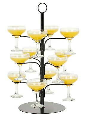 Cocktail Tree Black - Cocktail Glass Display for 12 Glasses, Gin Serving Tree