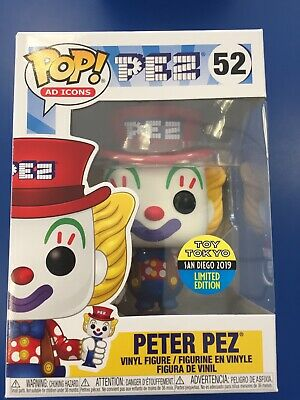 SDCC 2019 Funko Pop Ad Icons Peter Pez #52 Toy Tokyo Exclusive Limited Edition