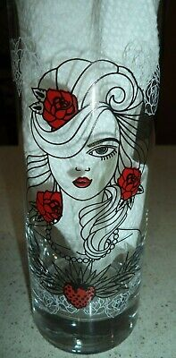 "Tequila Rose Strawberry Cream 11 oz Glass ""Naughty Never Tasted So Nice"""