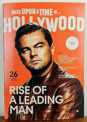 ONCE UPON A TIME IN HOLLYWOOD Magazine PREMIERE PROMO QUENTIN TARANTINO RARE