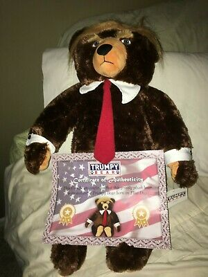 Large Deluxe Trumpy Bear Authentic Donald Trump Stuffed Teddy Bear NEW with tags