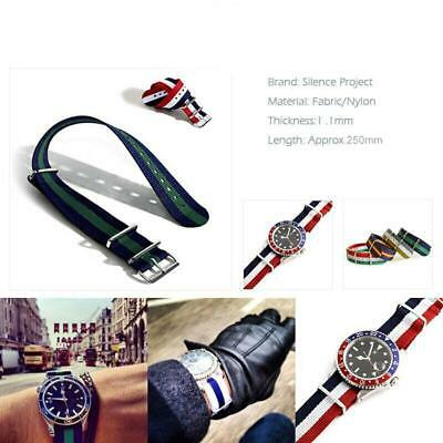 18mm New Fashion Sport Nylon Casual Buckle Straps Soft Nylon Wristwatch-Bands