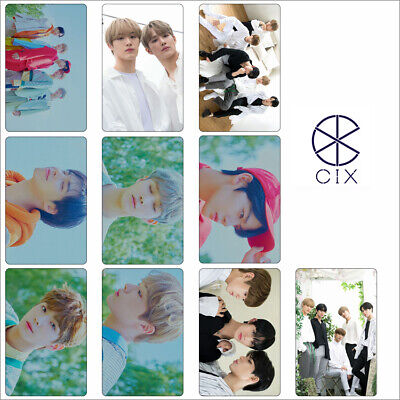 10pcs Kpop CIX HELLO Chapter 1 Stranger Photo Stikcy Card Crystal Card Sticker