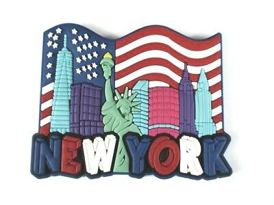 New York Freedom Tower World Trade Center, Statue of Liberty,Rubber Magnet,New