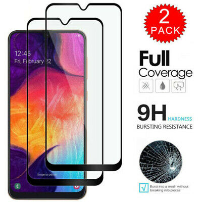 Full Cover Tempered Glass Protector Film For Samsung Galaxy A20 A30 A40 A50 A70