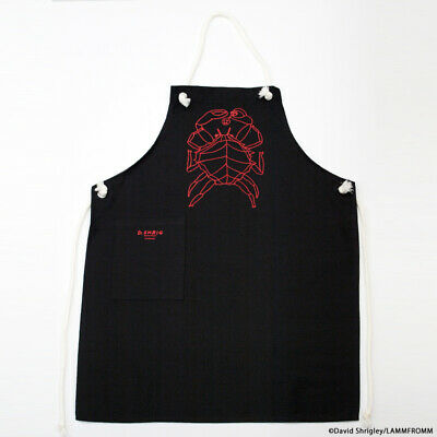 DAVID SHRIGLEY Kitchen Apron CRAB X BLACK Japan Limited Brand New RARE