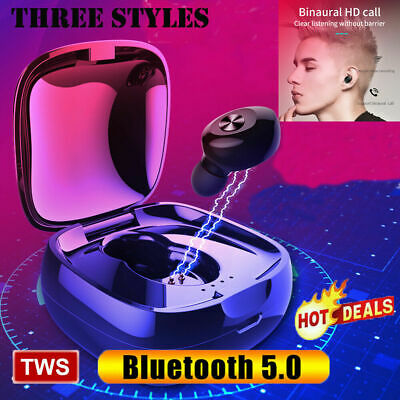 Bluetooth 5.0 Headset TWS Wireless Earphones Earbuds 5D Stereo Headphones CA