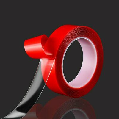 6 8 10 12 15 20mm AUTO ACRYLIC FOAM DOUBLE SIDED ATTACHMENT ADHESIVE TAPE@O