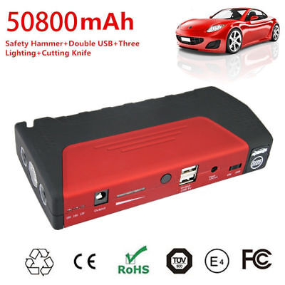 Auto Emergency Jump Start 50800mAh Power Supply Charger Booster Multifunction GH