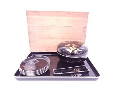 4292901: Japanese Tea Ceremony / Lacquered Sweets Pot Try Set