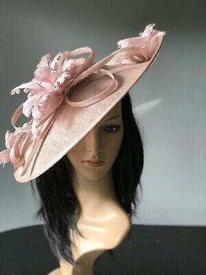 SUZANNE BETTLEY PINK WEDDING  DISC FASCINATOR Mother Of The Bride Hat