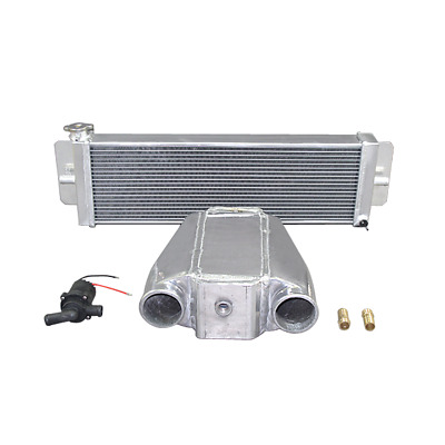 2.4Gal ICE BOX TANK Air Water INTERCOOLER Water Pump For Turbo Supercharger