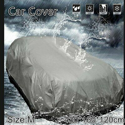 M Size Full Car Cover Waterproof Sun UV Snow Dust Rain Resistant Protection wq