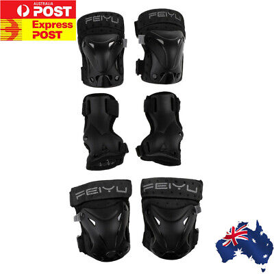 New 6 Pieces SKATE Protection KIT Knee Pads Wrist Elbow Pads Skateboard Scooter