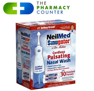 NeilMed Sinugator Cordless Nasal Wash With 30 Premixed Packets