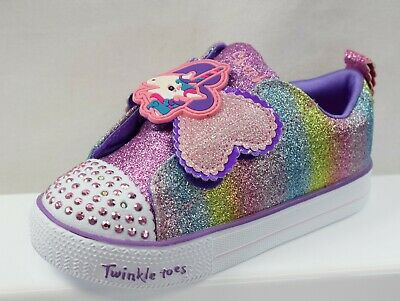 Details about Skechers Twinkle Toes Shuffles Child Girls Trainers UK 13.5 US 1.5 EUR 33 4294