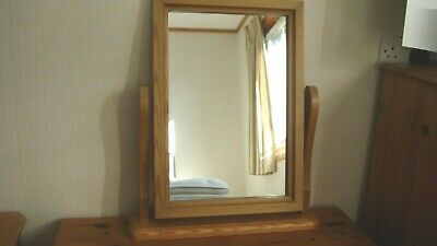 COLLECTION ONLY Free Standing Pine Dressing Table Dresser Mirror on Stand